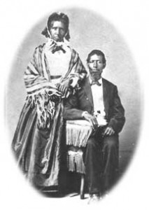 Eliza and Dunmore Gwinn, two of the possibly thirty slaves who were freed by Moncure Conway and brought to Yellow Springs in 1862.