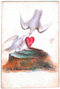 Entertainment-Playing-card-Ace-of-Hearts-White-doves